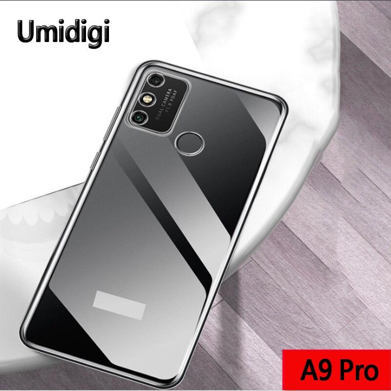 Back Cover For Umidigi A9 Pro Case Funda Mobile Phone Protective Shell Black Transparent Luxury Soft
