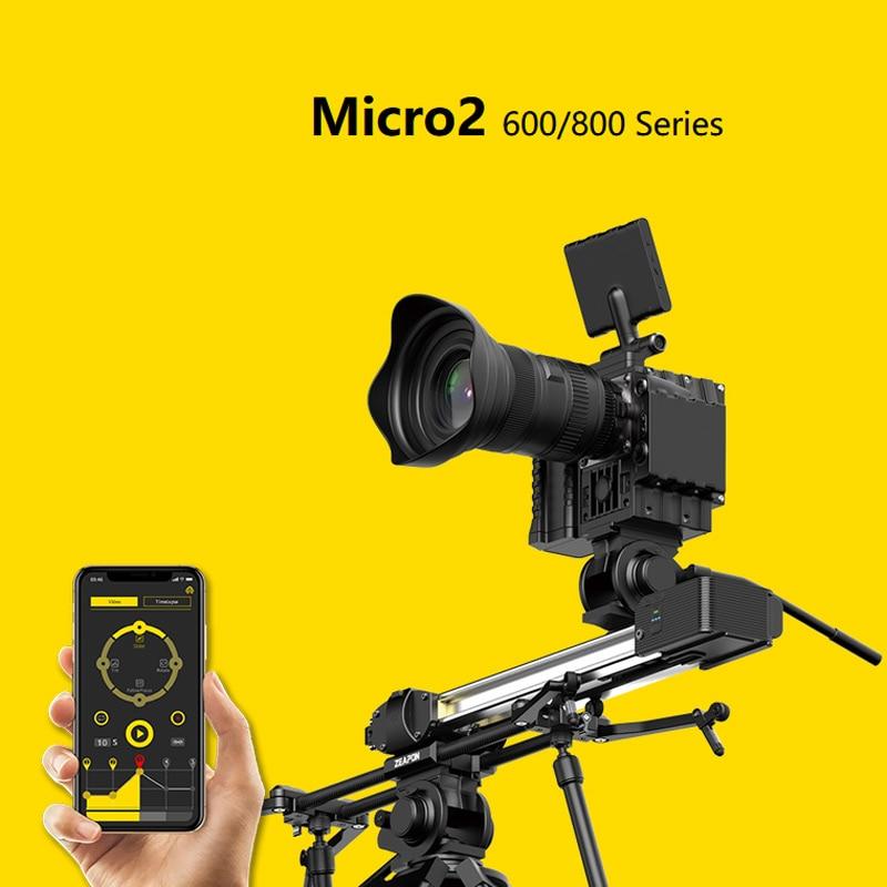ZEAPON Micro 2 E600 E800 M600 M800 motorizado carril deslizante para cámara DSLR, vídeo, doble distancia, Motor portátil, deslizador de pista Macro