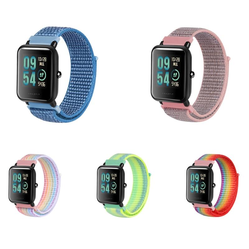 AliExpress - 20mm Nylon Watch Band For  Xiaomi Huawei Amazfit samsung Sport Breathable Velcro Wrist Strap smart Watch Band Bracelet
