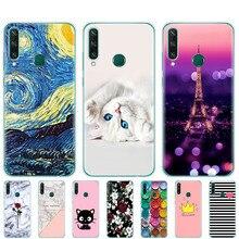 Чехол для Huawei Y6P, Мягкий Силиконовый ТПУ чехол 6,3 дюйма для Huawei y6p 2020, чехол-бампер с рисунком милого кота, чехлы-футляры с рисунком, сумки