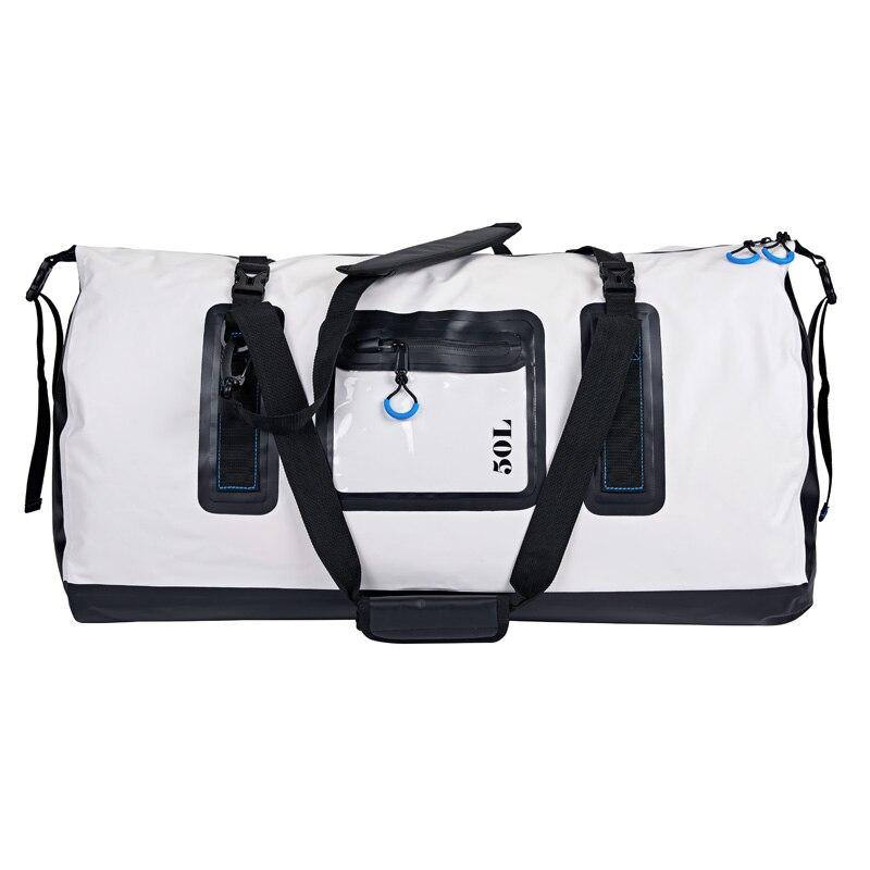 Bolsa de hombro plegable de 50 l de lona seca bolsa de deporte para kayak, Rafting, bote, pesca, gimnasio, viajes, Bycycle, motocicleta