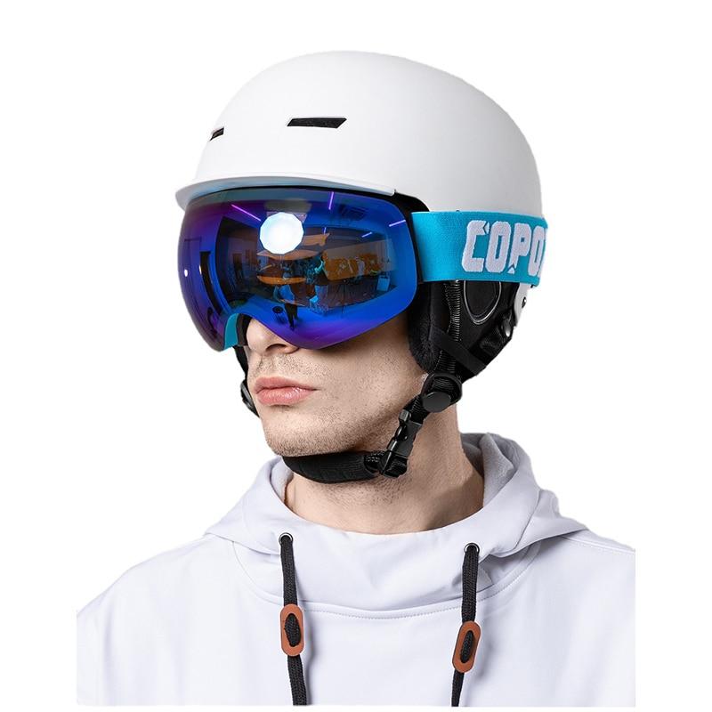 Luxury Double Layer Ski Goggles Aldult Anti-Fog Safety Snow Goggles Men Women Skiing Eyewear UV400 Outdoor Sports Ski Equipment