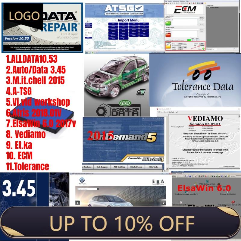 2021 Hot Sale All data+ Mit.chell+ ATSG +Vivid workshop +Atris+ elsawin + vidiamo + Et.ka + ECM + Tolerance car repair software недорого