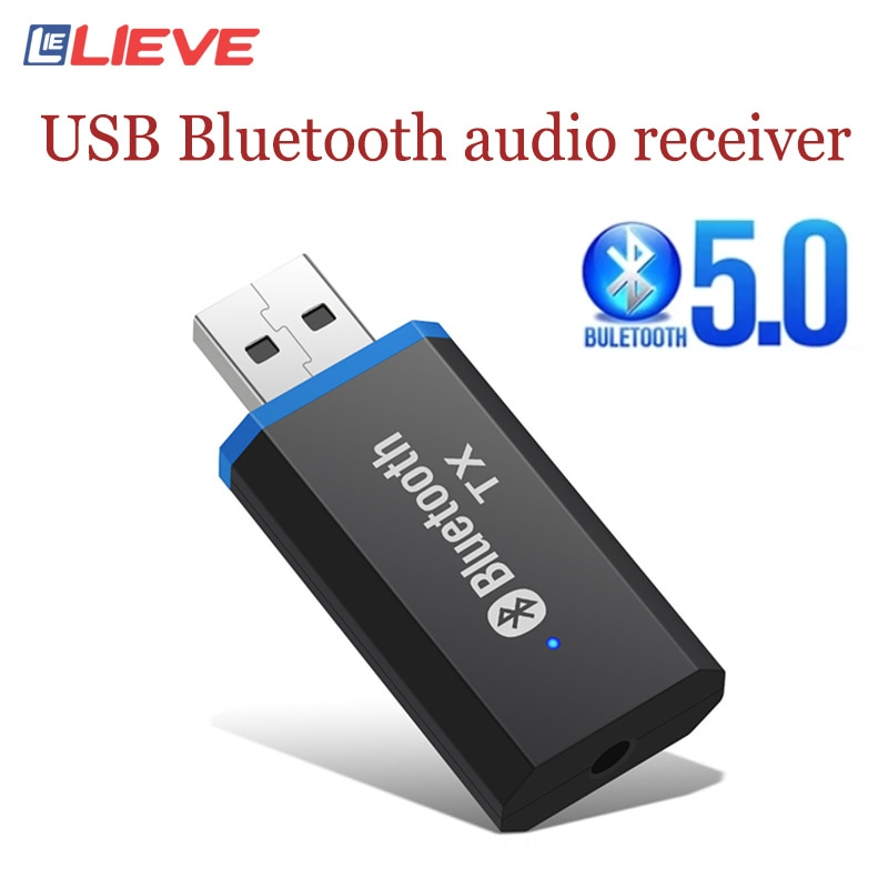 5.0 USB Bluetooth Adapter 3.5mmAUX bluetooth audio receiver Free Drive bluetooth audio module Transmitter for TV Computer
