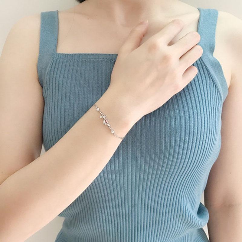 Designer Charms Bracelet Anime Flash Zircon Flowers Bracelets for Women Jewelry Accessories Wholesale Bulk Pulseras Mujer 2021