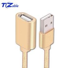 USB 2.0 rallonge mâle à femelle 0.5m 1m 2m 3m ligne de connexion pour PC ordinateur portable U disque souris USB rallonge