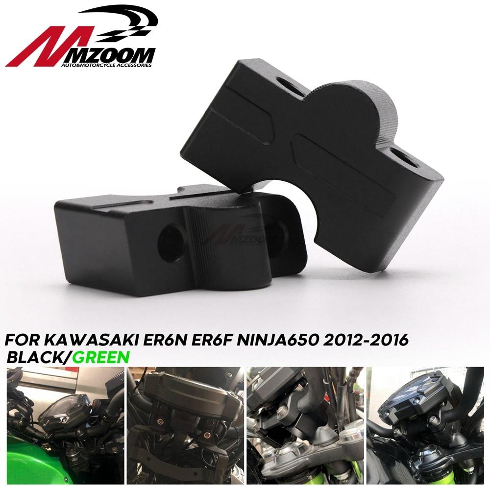 Moto 22mm bride de guidon Riser dextension Heighter pour Kawasaki Z650 2017 ER6N ER6F NINJA650 NINJA 650 2012-2016 2013 2014