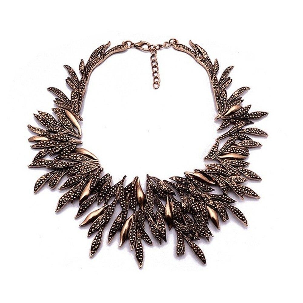 2019 nuevo diseño Vintage collar de declaración para mujer moda hoja gruesa aleación gargantilla collar Collier Femme joyería