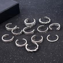 12 Teile/satz Frauen Dame Einzigartige Verstellbare Öffnung Finger Ring Retro Geschnitzte Kappe Ring Fuß Strand Fuß Schmuck anillos mujer