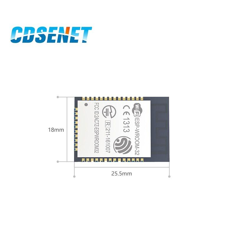 2 шт., беспроводные двухъядерные процессоры ESP32, 2,4 ГГц, 22 дБм