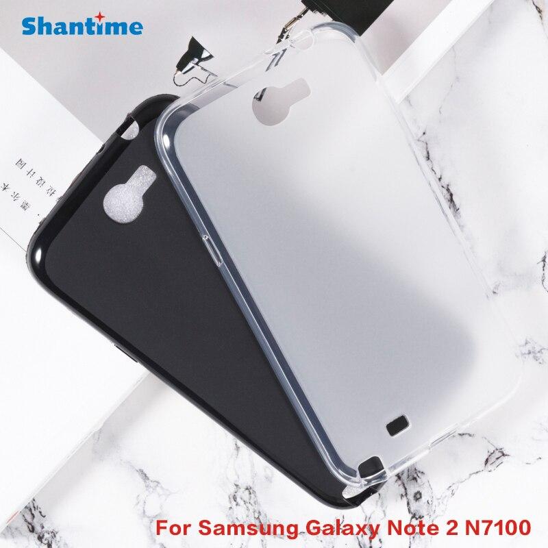 Carcasa protectora de silicona para Samsung Galaxy Note 2 N7100, carcasa de TPU blanda para Samsung Galaxy Note 2 N7100