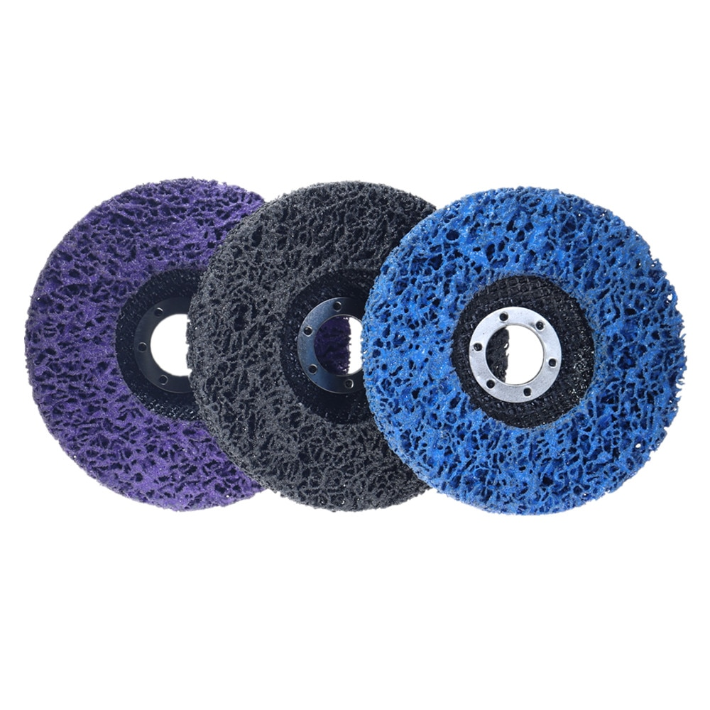 2 pçs 125mm preto azul diamante disco de moagem abrasivo disco cinto moedor roda ferramentas abrasivas polimento lustrando rodas
