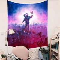 spaceman pink bohemian tapestry wall fabric abstract starry sky moon mandala tapestry wall hanging hippie boho psychedelic tapiz