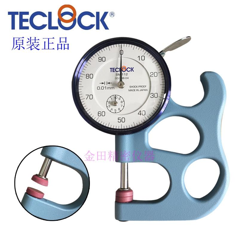 Medidor SM-112 da espessura da cabeça do ferro do calibre SM-112FE da espessura de teclock tabela grossa e fina de 0-10mm