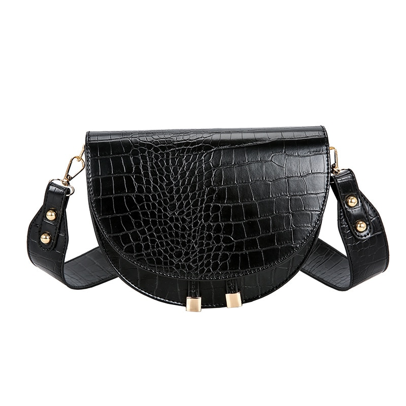 2020 fashion new small leather bags women serpentine bag luxury handbags design shoulder bag lady with chain clutch bolsos mujer 2020 New Bolsos Mujer Luxury Women Crossbody Bag Semicircle Saddle Bags Soft Leather Shoulder For Ladies Handbags Designer Pu