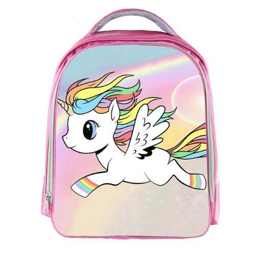 Pink Cartoon Unicorn Backpack 13'' Kids Children Small Mini School Bags For Girls Student Book Bag Unicorn Rucksack For Teenager