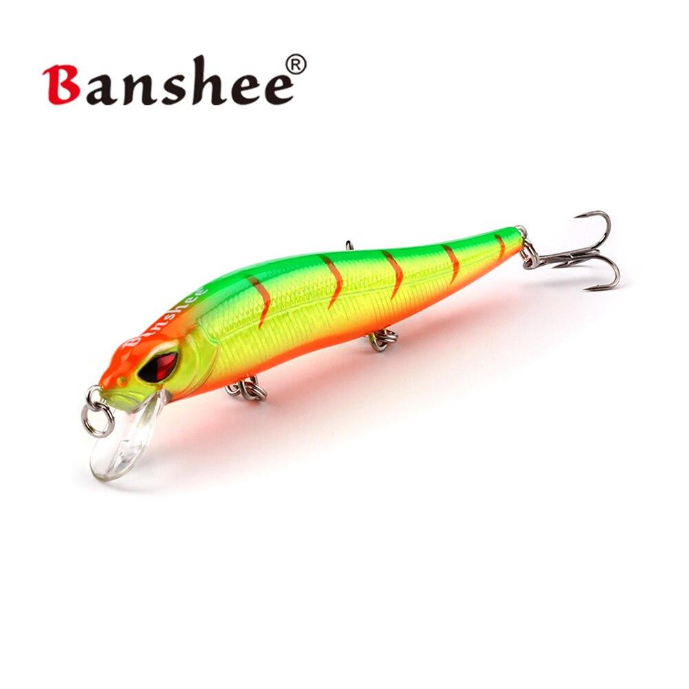 Banshee 100mm 10g iscas de pesca wobbler jerkbait duro isca artificial minnow iscas para baixo pesca