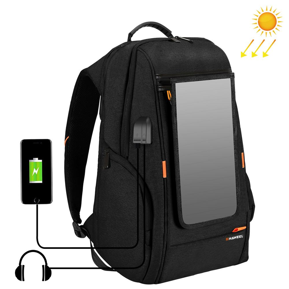PULUZ Outdoor Multi-Function Solar Panel Backpack Comfortable Casual Camera Backpack Laptop Bag For 3C /Dslr Accessories