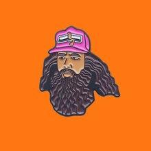 Magical Forrest Gump Enamel Pins Cute Funny Metal Cartoon Brooch Backpack Hat Bag Collar Lapel Badge
