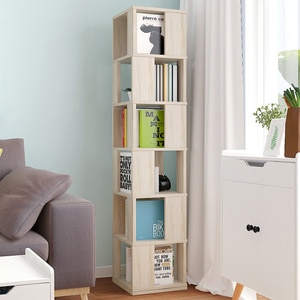 Pineapple White Squares  Bookshelf Contracted Sitting Room Revolving Bookcase Bedroom Place Other People
