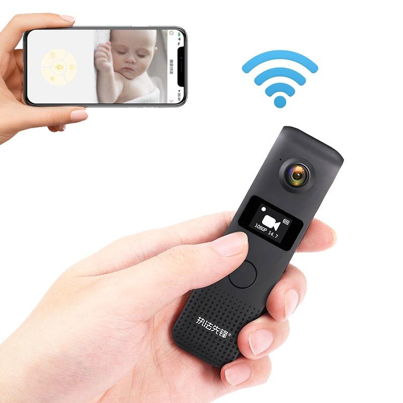 Tannccc Wireless Mini Camera Wifi Small Video Camcorder Portable Micro Camera Body Cam Loop Recording Cam Motion Detection  C18