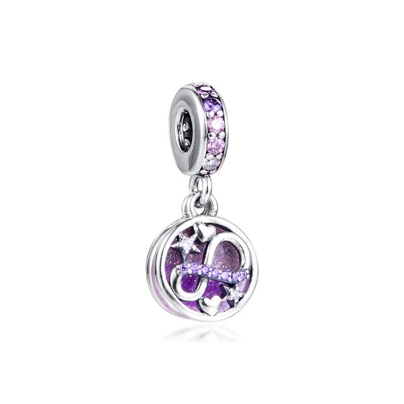 Abalorios QANDOCCI de Plata de Ley 925 con adorno calado de plata con diseño de notas musicales compatibles con pulseras Pandora originales para mujer, joyería de moda
