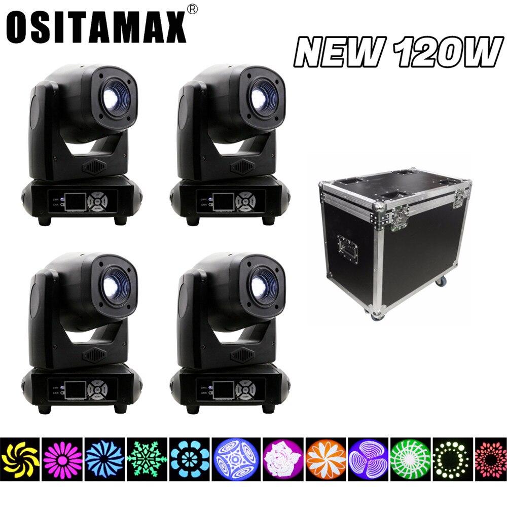 Foco móvil led dmx, 4 luces + 1 carcasa, 120w, profesional, para iluminación de escenario, efecto gobo PRISMA, muestra de luz de Fiesta disco