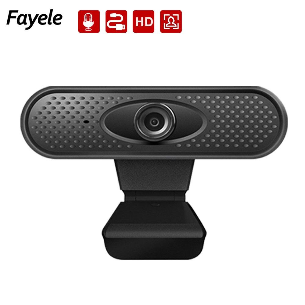 Mini HD 1080P Webcam Home USB de oficina cámara de clase Web integrado en 48DB micrófono cámara para retransmisión en vivo 30FPS USB2.0 Video llamada