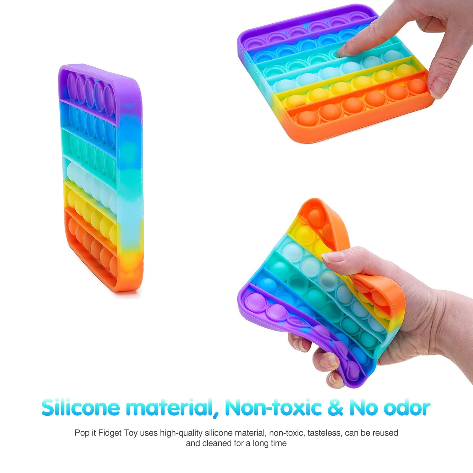23 Pack Soft Silicone Squeeze Sensory Fidget Toys Safe Portable Stress Relief Toys Decompresssion Educational Toys For Kids Gift enlarge