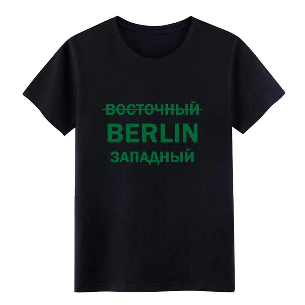 West east berlin gdr ussr regalo soviético camiseta hombres impreso 100% algodón tamaño S-3xl traje Fit Building summer Kawaii shirt