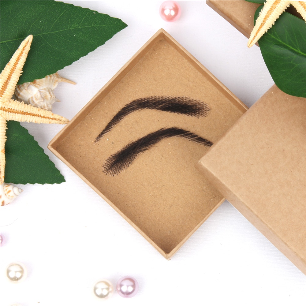 salonchat hand tied false lace eyebrows 100% human hair eyebrows human hair invisible handmade fake eyebrows for women man AIYEE For Women's Jolie Style Fake Eyebrows Lace Human Hair Fake Eyebrows Artificial Weaving Eyebrow Wigs Wave Style Eyebows