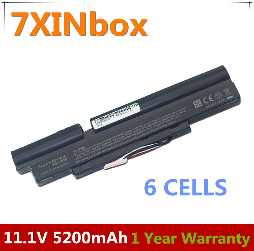 7XINbox 11,1 V Аккумулятор для ноутбука AS11A3E AS11A5E для Acer TimelineX 3830T 3830TG 4830T 4830TG 5830T 5830TG 3ICR19/66-2 3INR18/65-2