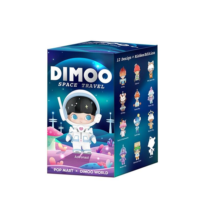 Genuine popmart bolha mate dimoo espaço viagem série caixa cega maré jogar boneca feito à mão decoração de mesa