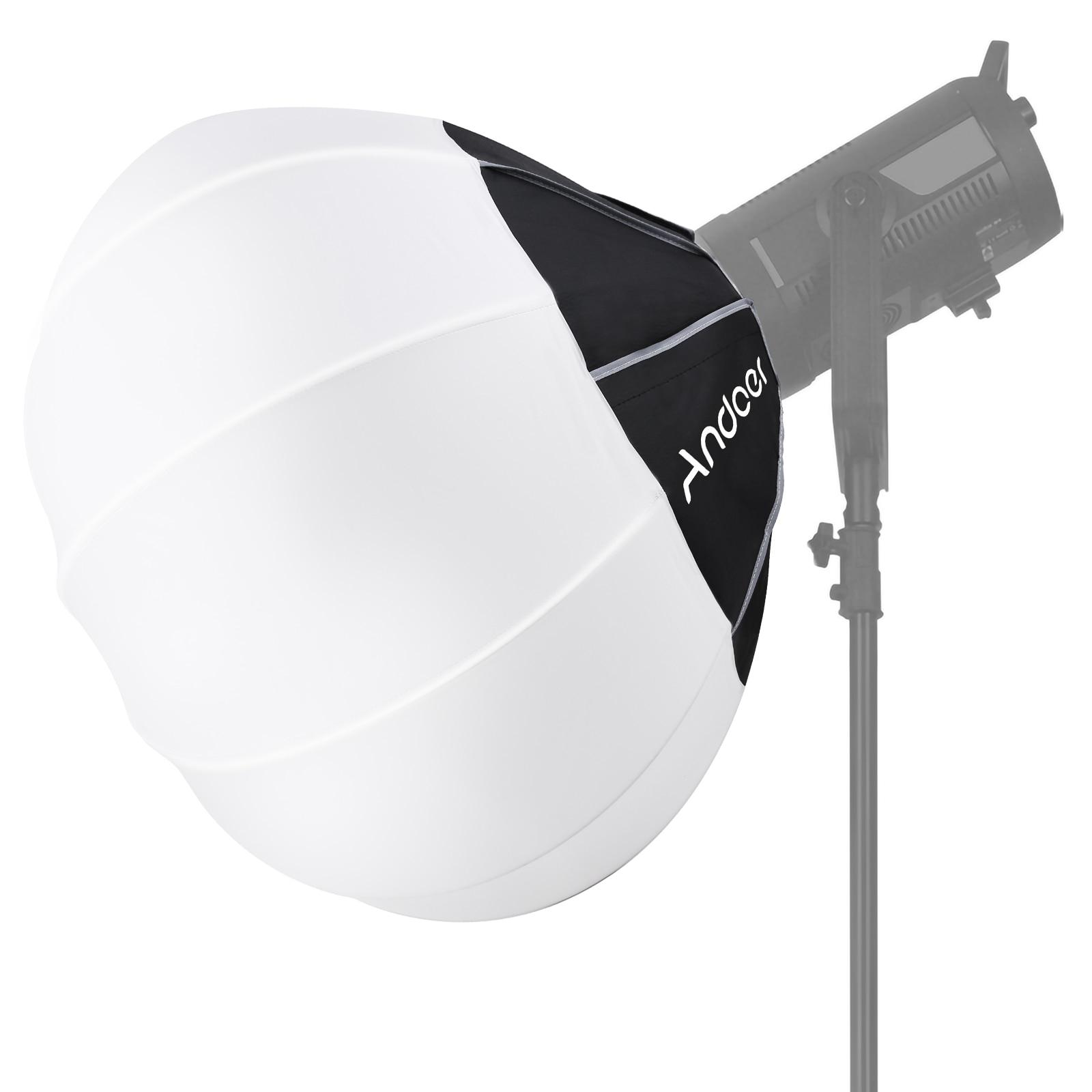 Andoer фонарь софтбокс Сферический складной софтбокс быстрая установка Bowens крепление студия фотографии видео осветительный аксессуар