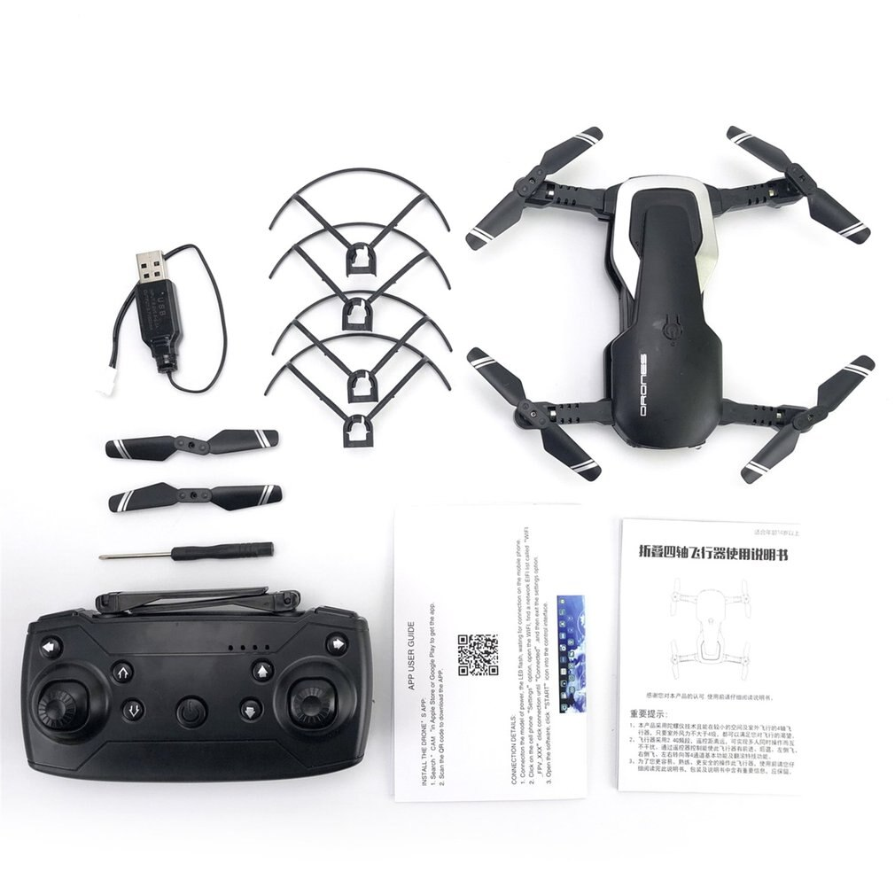 480 p/720 p h2 dobrável rc zangão fpv rc helicóptero aeronaves modo headless fluxo óptico controle remoto brinquedos preto/branco