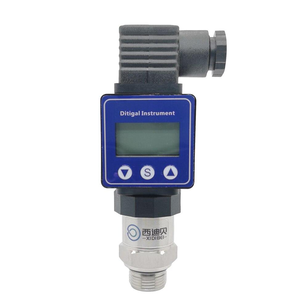 Transmisor de presión con pantalla LCD M20 * 1,5 12-36V 0-10V 0.5% 0-600bar sensor de transductor de presión de acero inoxidable opcional