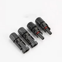 10pcslot photovolta connector used for solar cable 2 5mm 4mm photovoltaic panel cable wire connect connector male and female