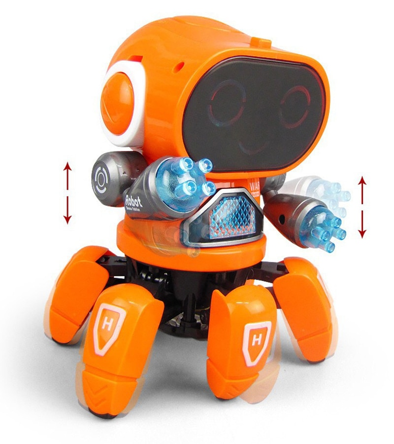 Smart Dancing Robot Electronic Six-claw Dance RC Robot Included LED Music Nina Robot Toy for kids Intelligent Cool Birthday Gift