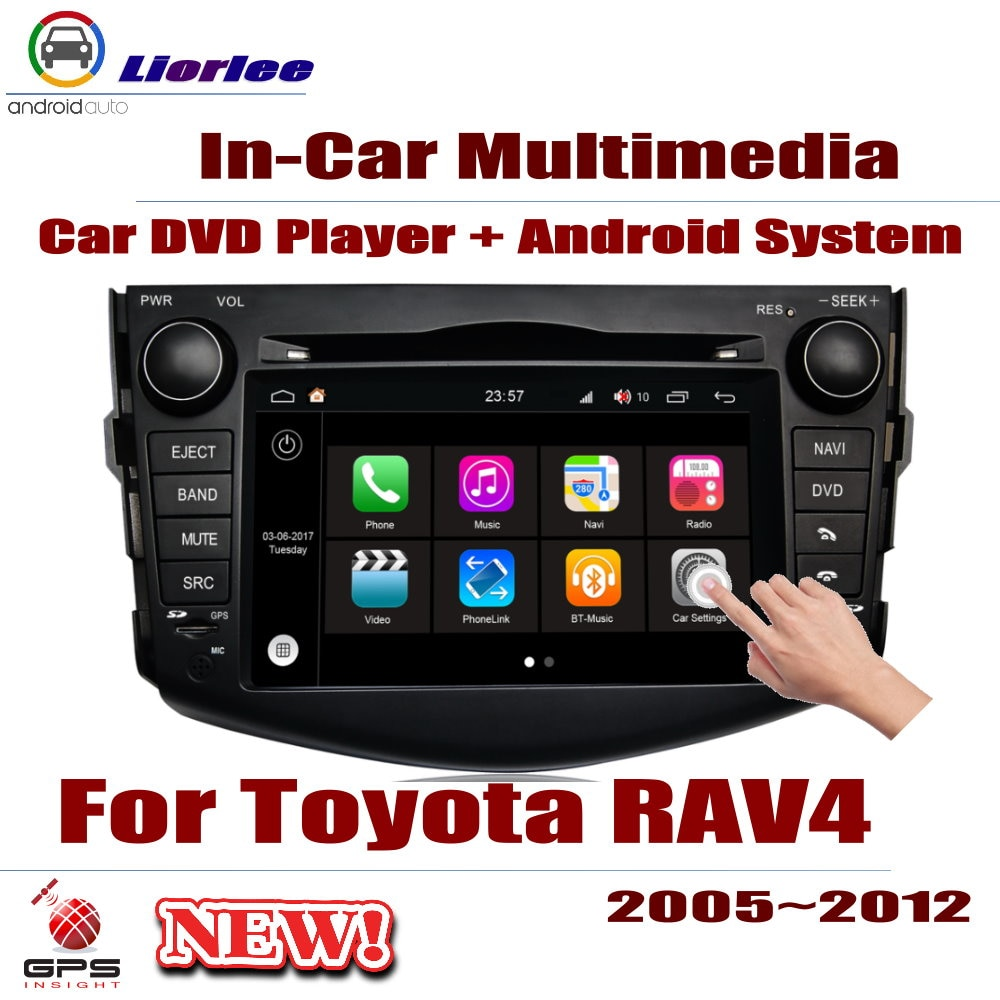 Reproductor de DVD para coche Toyota RAV4/Vanguard 2005 IPS 2012 IPS pantalla LCD navegación GPS sistema Android Radio Audio Video ESTÉREO