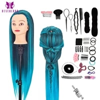 neverland 28 inch practice head long thick hair hairdressing doll mannequin head for hairstyles braiding dummy training head