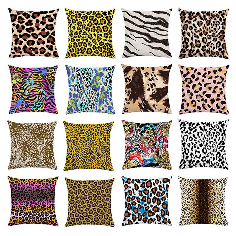 Almofada decorativa série travesseiro leopardo gráfico decorativo capa de almofada do saco de almofada decoração para casa beleza sofá cintura do carro 45x45cm