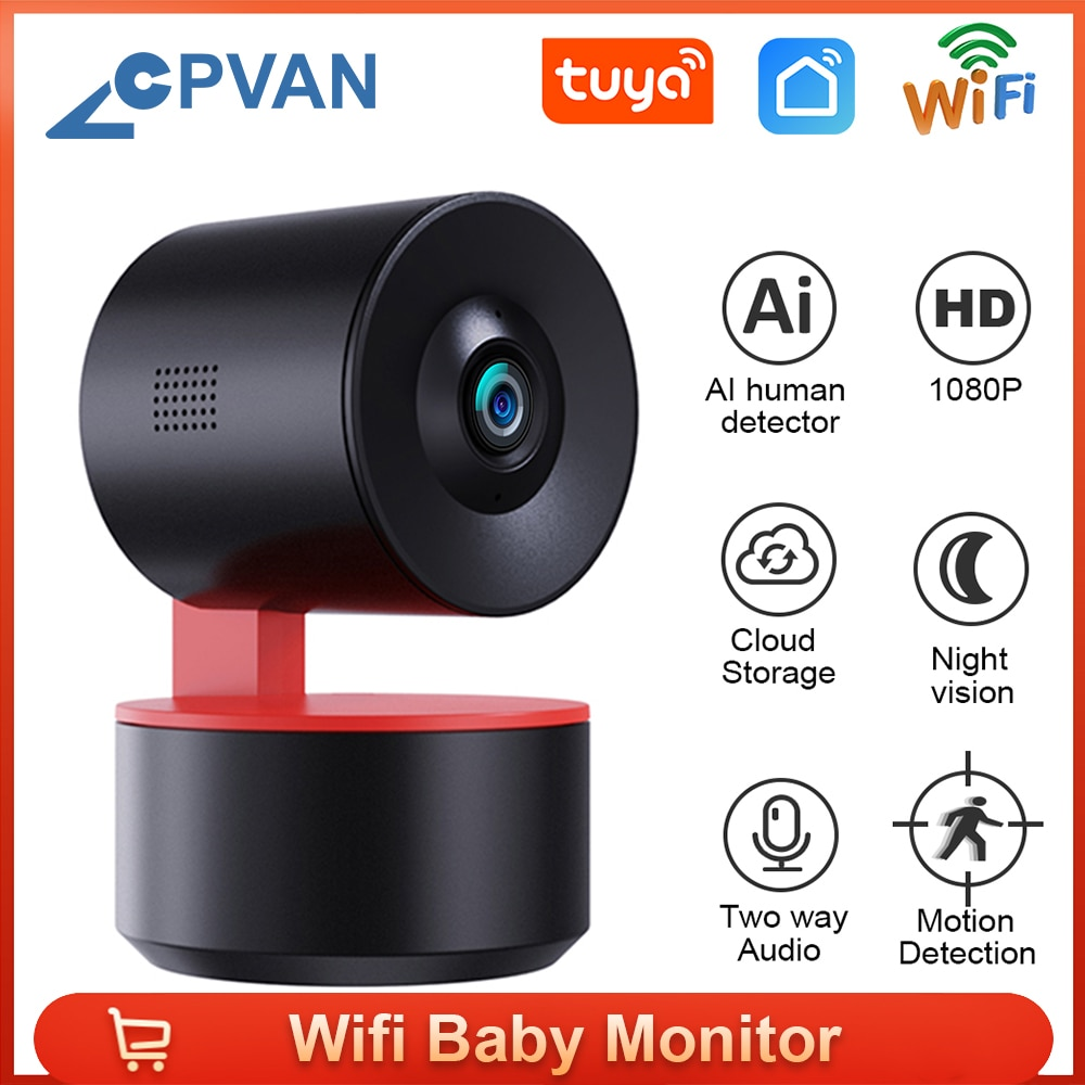 Tuya Wifi مراقبة الطفل 1080P IP كاميرا تتبع التلقائي اتجاهين الصوت للرؤية الليلية مراقبة أمن الوطن كاميرا داخلية