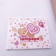 100 pcs/lot belle rose rouge en forme de coeur sucette décor épaissir doux Nougat bonbons emballage partie à pois amour torsion cire papier