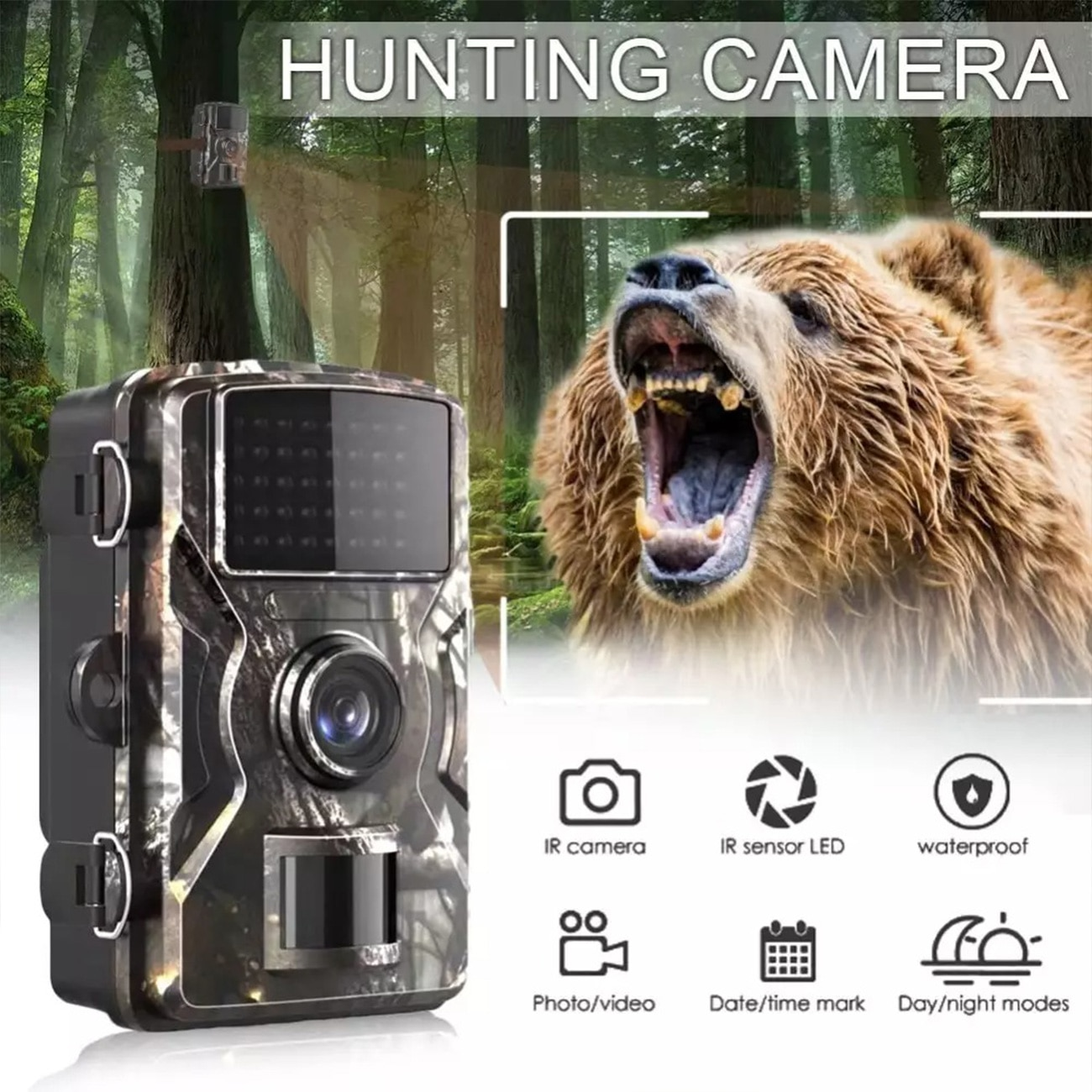 DL-001 Hunting Trail Camera Wildlife Camera Night Vision Motion Activated Outdoor Forest Camera Trigger Wildlife Scouting Camera