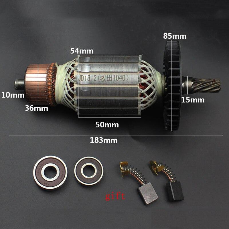 AC220-240V armadura rotor estator substituir para makita 1040 ls1040 dca FF-255 máquina de corte 9 dentes rotor acessórios da ferramenta elétrica