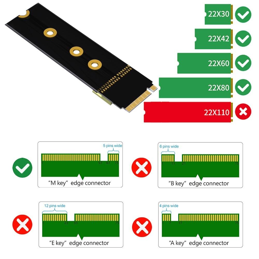 حامل ممدد الكارت كابل SFF-8639 إلى M.2 NVMe NGFF مفتاح الولايات المتحدة 2 واجهة M.2 مفتاح محول ل الولايات المتحدة 2 NVME SSD