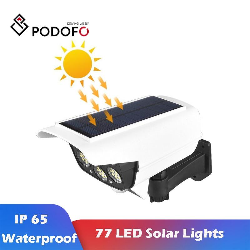 Беспроводная уличная лампа на солнечной батарее Podofo, водонепроницаемый светильник с 3 режимами освещения для сада, патио, дорожек, двора