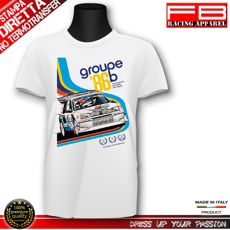 Camiseta a la moda 2019 para Fans del coche francés Sporter 205 Maxi Gti ralling Group B 1986 historia
