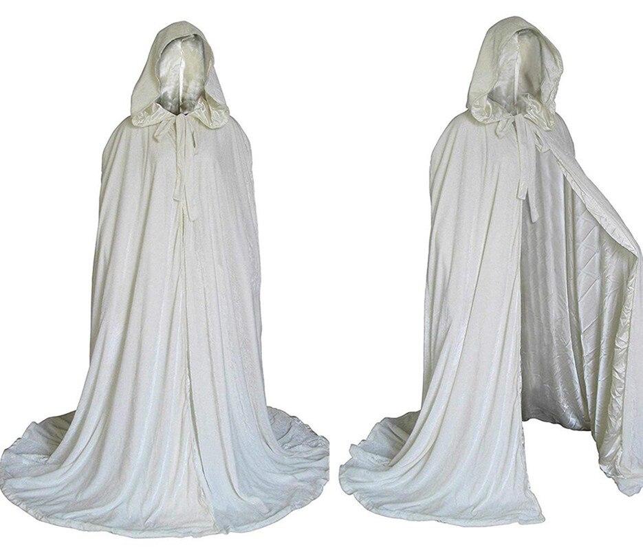 Capas con capucha de terciopelo largo hasta el suelo capa de Boda nupcial de invierno capa de terciopelo con capucha capa para fiesta de boda capas con capucha 2020 nuevo