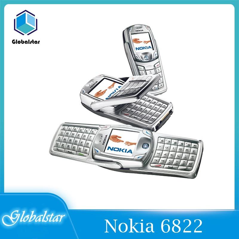 Перейти на Алиэкспресс и купить Nokia 6822 отремонтированный Оригинальный разблокированный вращающийся Nokia 6822 мобильный телефон 2,2 дюймов 2G/3G с Bluetooth для телефона Бесплатная до...